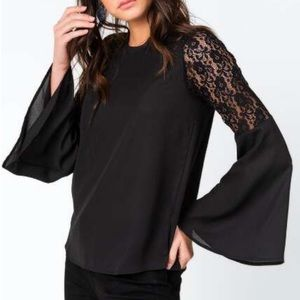 Sabera Lace Sleeve Blouse